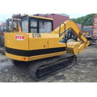 Wholesale secondhand Japan origin weight 6900kg small Caterpillar E70B midi excavator from china suppliers