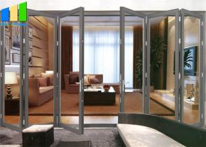 Wholesale Balcony Horizontal Folding Door Decorative Aluminum Frame Glass Bifold Door from china suppliers