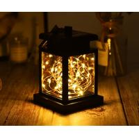 China Outdoor Solar Garden Lights IP65 Waterproof Solar Candle Flame Lamp Led Star String Flame Lights on sale