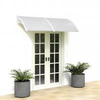 China Retractable Polycarbonate Window Awnings Brown Board House Decoration on sale