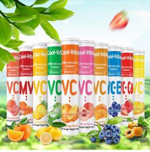 China Healthy Fruits Flavor Vitamin C Dissolvable Tablets 250mg 500mg 1000mg on sale
