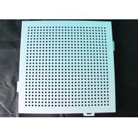 Noiseproof Acoustic Perforated Metal Ceiling Panels / Round Hole Punched Tiles 2 x 2 Manufactures