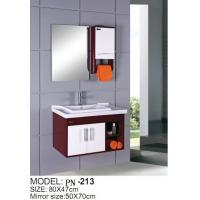 Wholesale Red small PVC/MDF/solid wood hanging/floating/wall-mounted bathroom vanity/bathroom cabinet from china suppliers