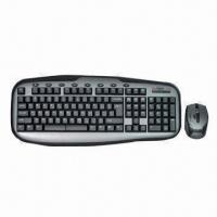 Wholesale Wireless Keyboard/Mouse Combo with 6 Keys for Multimedia Function and 3V 2AAA AIkanline Battery from china suppliers