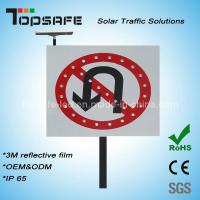 Wholesale No U-Turns Aluminum Flashing LED Solar Traffic Signs/ Signage (TP-BP-DT64) from china suppliers