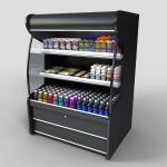 Wholesale Upright 780L 2doors beverage glass door freezer from china suppliers