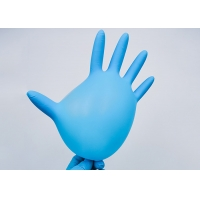 Buy cheap Blue Disposable Nitrile Gloves / Fits Either Hand Anti Allergic Food Safe from wholesalers