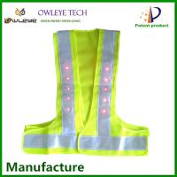 Wholesale Led reflective walking safety vest LED warning vest security reflective vest from china suppliers