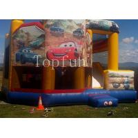 PVC  Racing Car Inflatable Jumping Castle 5 x 5m Digital Printing With Slide Manufactures