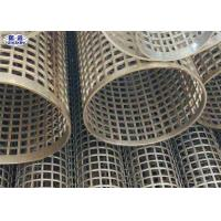 Wholesale Silver Welded Perforated Stainless Steel Tube Slotted Tube Filter Cylinders from china suppliers