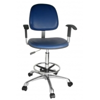 Buy cheap PE Castor 560mm Adjustable ESD PU Chair With Armrest from wholesalers