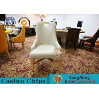 Wholesale Padded Seat Baccarat VIP Poker Gaming Desk Chair / Metal Dining Chair from china suppliers
