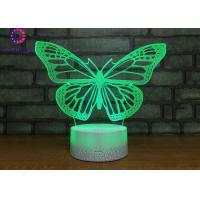 Wholesale Butterfly Lights Battery Operated Gifts for Girl Bedroom Desk Lamp for Sleeping 7 Colors from china suppliers