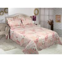 Buy cheap Floral Pattern Printed Quilt Set Microfiber / Cotton Fabric For Bedroom product