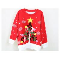 Wholesale Women Acrylic Jacquard Christmas Sweater Red And Black Computer Knitted from china suppliers