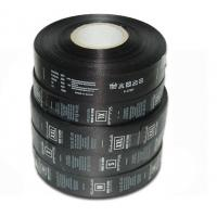 Wholesale Polyester Custom Care Labels Symbols Black Single Side Roll Satin Printed from china suppliers