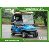 Wholesale 2 Person Electric Golf Car With 3.7KW Motor Italy Graziano Axle Blue Color from china suppliers