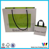 China Fancy Custom recycled paper shopping Packaging Bag With PVC Window on sale