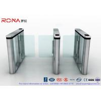 Wholesale Brushed Surface Speed Gate Fastlane Turnstile Half Height Turnstile With Fingerprint Reader from china suppliers
