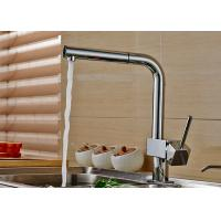 China Deck Mounted Kitchen Basin Faucet ROVATE With Durable Pull Out Sprayer on sale