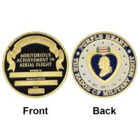 China 2015 Hot 40*3mm The Badge Of Military Merit U.S. Purple Heart Challenge Coin Fancy Pure Gold Plated Coin Metal Coin on sale