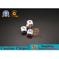 Wholesale 15mm Casino Game Accessories Gambling Dice Poker Playing Cards Melamine Scorpion from china suppliers