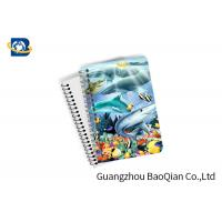 Wholesale Eco Friendly Paper 3D Lenticular Notebook Ocean / Animal Pattern With Spiral from china suppliers
