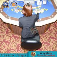 Wholesale Upholstered Leather Casino Gaming Chairs Tall Stainless Steel Backrest Adjustable Round Base from china suppliers