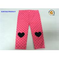 Buy cheap Knee Heart Applique Cute Baby Girl Leggings Heart Printed Lycra Jersey Pant from wholesalers
