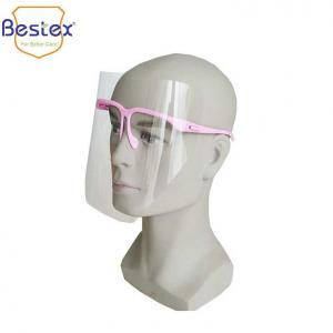 Wholesale Odorless PVC ISO13485 Anti Fog Face Shields With Glasses Frame from china suppliers