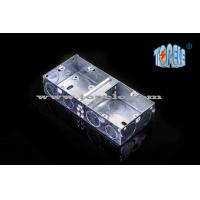 Wholesale 2- Gang British Standard Metal Electrical Conduit Box With PVC , Conduit Switch Box from china suppliers