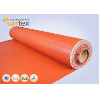 Texturized Heavy Duty Insulation Silicone Coated Fiberglass Fabric Roll Fireproof
