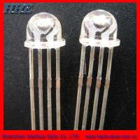Wholesale 5mm Straw Hat RGB LED Diode Four Pins Super Brightness from china suppliers