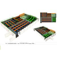 Wholesale 430M2 Long Square Shape Orange & Green Style Trampoline Park Event Equipment from china suppliers