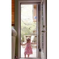 Retractable door mosquito screens popular retractable for Invisible fly screen doors