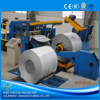 Galvanised Steel Sheet Slitter Cutter Machine With Circular Knife Blade PLC Control