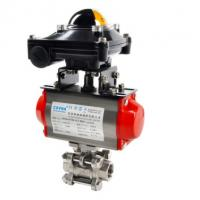 Stainless Steel pneumatic actuator jacket wafer ball valve Floating Ball Valve