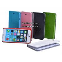 "Wholesale New arrival 4.7"" Iphone6 mobile phone case, leather case with 6 different colors from china suppliers"