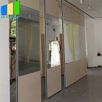 Wholesale Top hung Acoustic Partition Wall Aluminium Movable Mirror Glass Wall Panel Folding Mirrored Room Divider Screen from china suppliers
