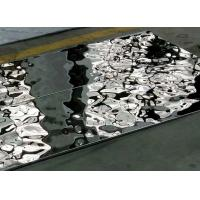 Wholesale Decoration Water Wave Stainless Steel Panel Sheet Mirror Polished Sus304 from china suppliers