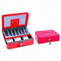 Wholesale Cash Box with Compartment for Rolled Euro Coins and Business Cheques, Ideal for Garage Sales from china suppliers