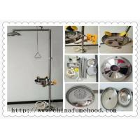 China 316 Stainless Steel Floor Laboratory Fittings Chemical Shower And Eyewash Station on sale