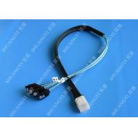 Flexible SAS To 4x SATA Forward Breakout Cable 3.3 Feet 30 AWG Style