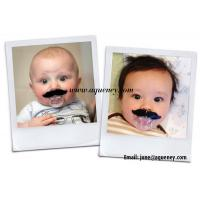 Wholesale Funny Baby Pacifier With Beard Mustache Silicone Soother Nipple Clips Pacifiers from china suppliers