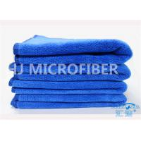 China Professional Royal Blue Window Car Cleaning Cloth / Microfiber Drying Towel For Cars on sale