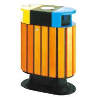 Wholesale Anti-corrosion Wooden Outdoor Public Dustbin in Residential Community HA-14802 from china suppliers