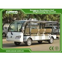 Wholesale EXCAR white 11 Seater 72V Electric Sightseeing Bus With Storage Basket from china suppliers