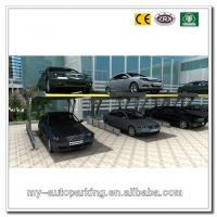 China Double Stack Parking System 1+1 Stacker for 2 Cars Two Post Tilting Parking Lift Tilting on sale