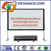 Wholesale 138 inch 16:9 Fast Fold Projection Screen Frame Portable Screen Outdoor Projector Screen from china suppliers