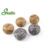 Wholesale Silver Metal Scouring Ball / Stainless Steel Cleaning Pads For Pot Washing from china suppliers
